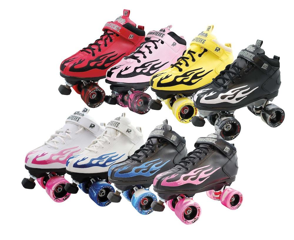 SD Rock046 ROCK Pink Flame Speed Freak Roller Skates w// Twister Wheels Sz 1