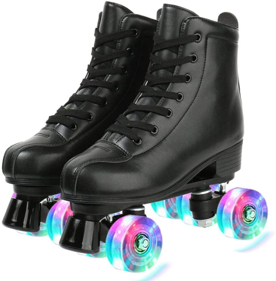 Black Classic Roller Skates LightUp Wheels