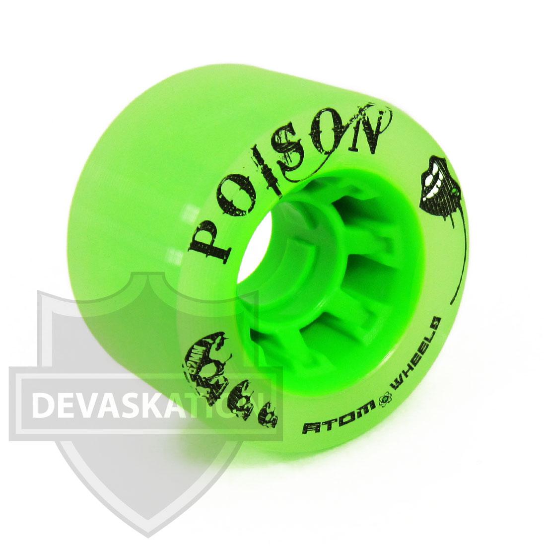 Black /& Pink 3 Item Bundle Atom Poison Savant Hybrid Roller Skate Wheels with Rollerbones Bearings Installed and 3-Way Tool!