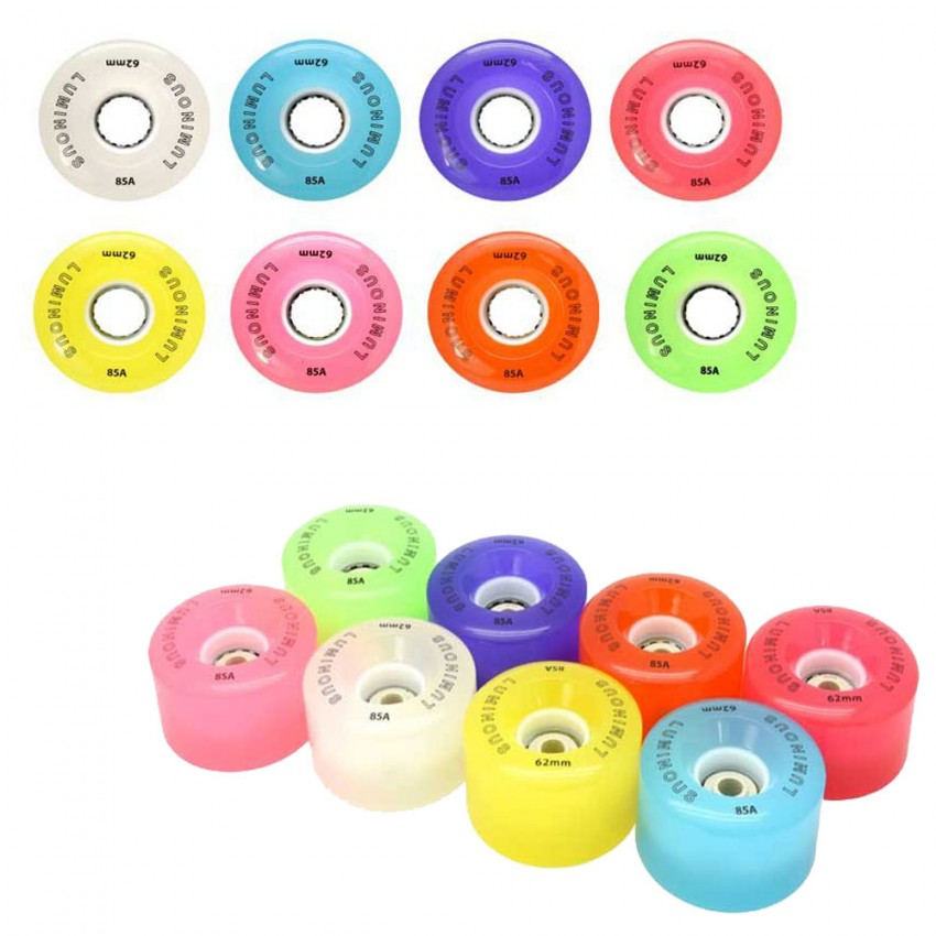 Luminous LED Quad Light Up Skate Wheels